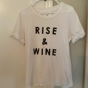 Anthropologie Rise and Wine t-shirt